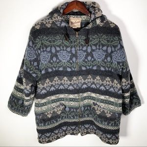 Woolrich Southwest Wool Zip Up Jacket XL Gray